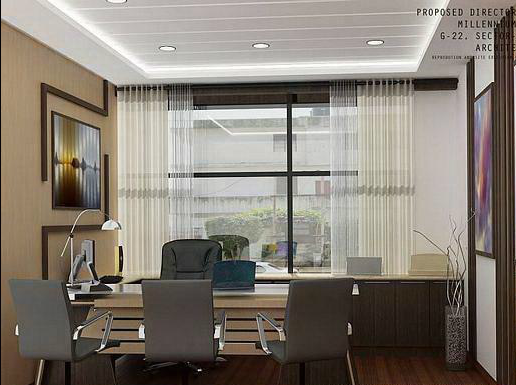 Latest corporate offices interior designs for Director office room design