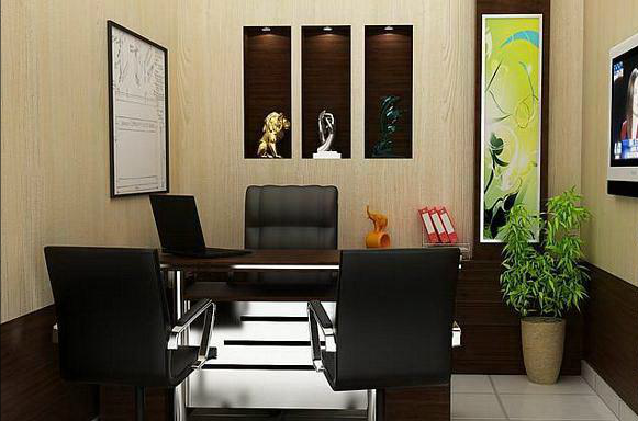 Office cabin table designs woodplans for Small office cabin interior design ideas