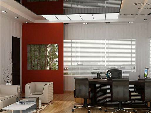 Latest interior design for corporate offices for Small office cabin interior design ideas