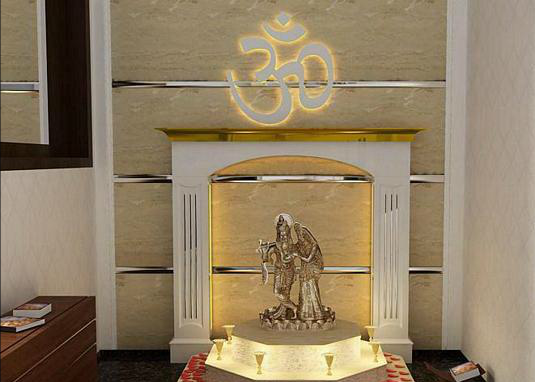 Latest interior design for residences for Home mandir designs marble