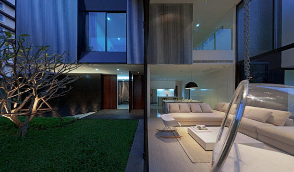 The YAK01 House in Bangkok: L Shaped Modern Family House… (15)