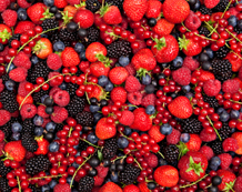 colorful berry mix