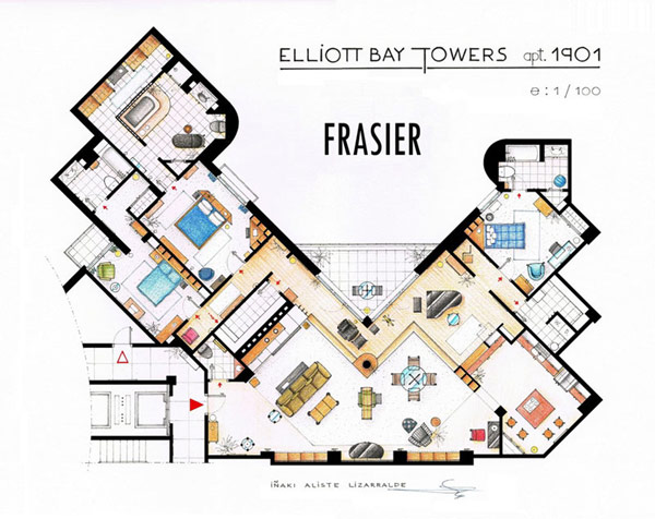 Most famous TV studios in One Article: Floor Plan of 10 Studios (5)