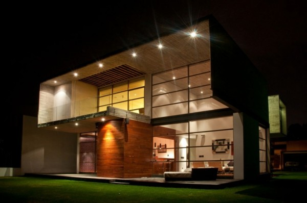 Modern Volumetric House Including Industrial Section in Mexico