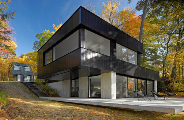 Lake Side Modern House in Vermont (2)
