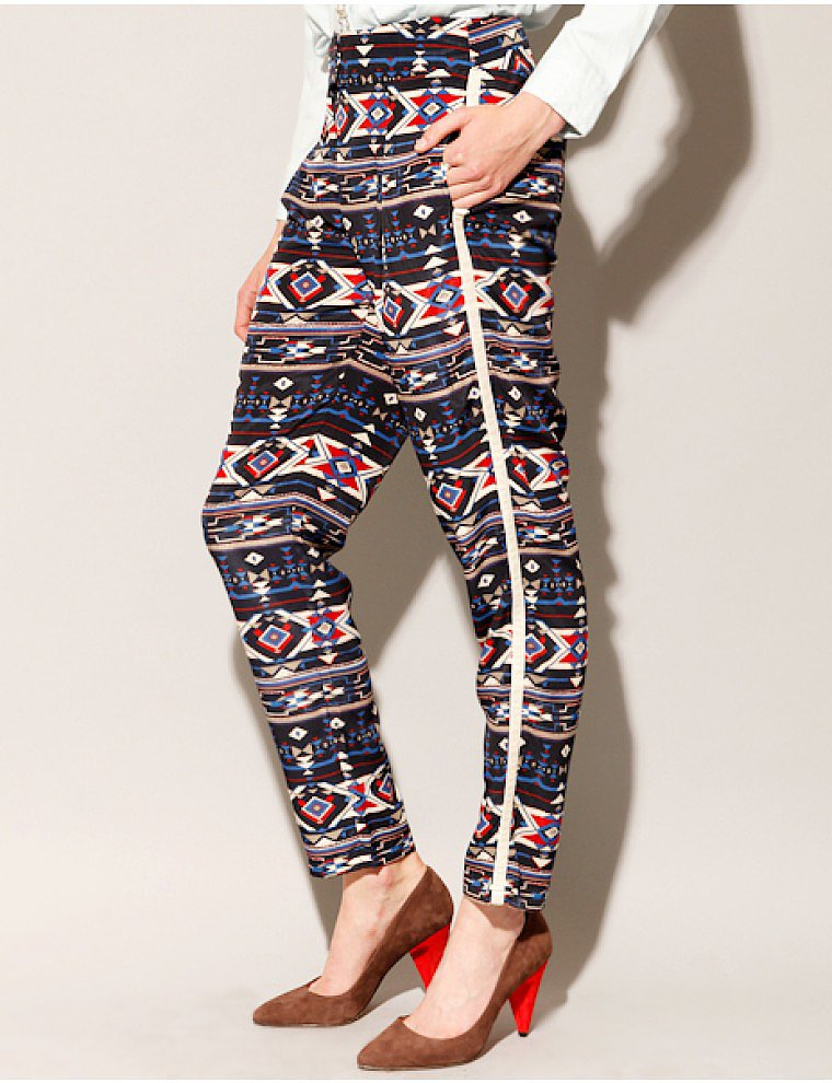 Try These Slouchy Printed Pants (3)
