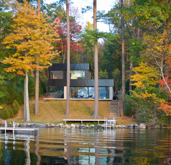 Lake Side Modern House in Vermont (10)