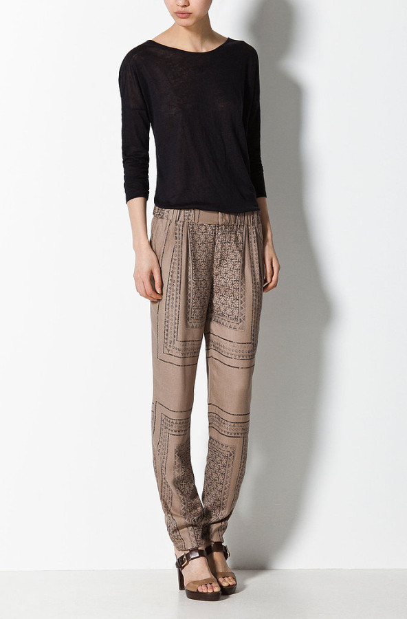 Try These Slouchy Printed Pants (1)