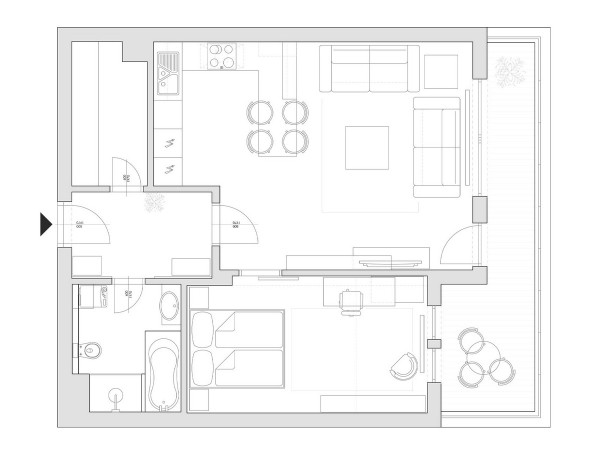 Two Room Flat in Slovakia... (1)