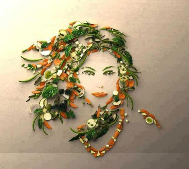 food art on wall