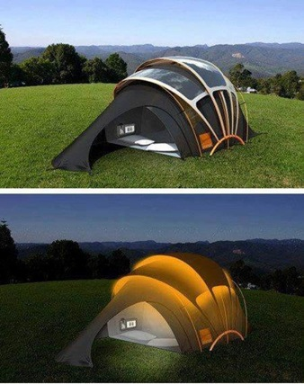 Solar powerted Tent
