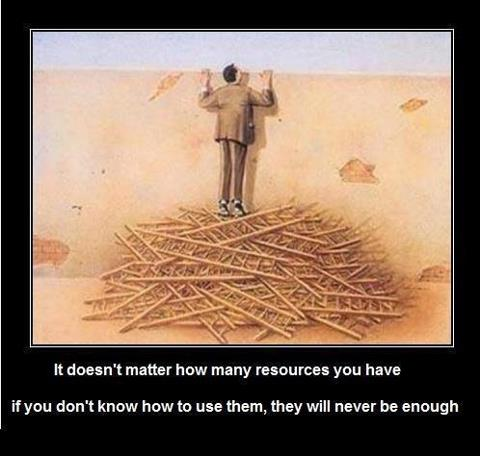 Use resources to get ahead