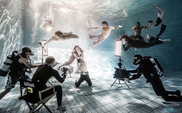 Photo shoot with Sunk Ships in Ocean Depths