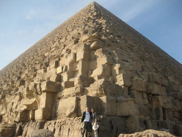 25 - Chris and Tanya in front of Great Pyramid