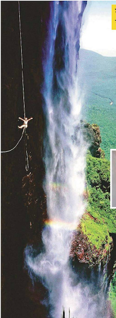 Husband & Wife Scaled the Highest Water Fall In Venezuela